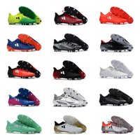 Wholesale Messi Cleats White - 2018 Mens soccer cleats X 16.1 FG AG outdoor soccer shoes Men's football boots cheap messi cleats X 16-1 soccer boots