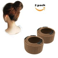 köpük bun clip toptan satış-Kadın Saç Bun Maker Hairdisk Güzellik Donut Bun Maker Eski Köpük Fransız Büküm Saç Klip Aracı