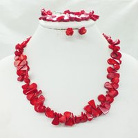 Wholesale Coral Beads Necklaces - free delivery red Coral Beads Jewelry Necklace For Wedding Or Party