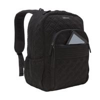 sac à dos en microfibre noir achat en gros de-Microfibre bleu noir Back to School College Sac à dos scolaire Sac de voyage Collège