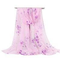 Wholesale vintage chiffon scarves for sale - Group buy New Women Smooth Silk Chiffon Fashion Little Flowers Shawl Vintage Summer Female Skinny Scarf Bohemia Crepe Scarves