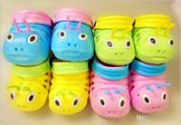 ingrosso scarpe bambino femmina-Pantofole per bambini Caterpillar da 4 colori Pantofole da bambino estive Baotou per maschi e femmine Morbide antiscivolo V 002