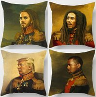 Wholesale Chan Wholesale - Tim Minchin Bob Marley Cushion Covers European Vintage Style Paintings Donald Trump Jackie Chan Cushion Cover Sofa Linen Pillow Case