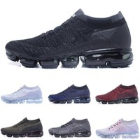 Wholesale football products - High quality Vapormax Running Shoes Cushion 2018 Men Women Sneaker Vapormax Product Hot Sale Breathable Sports Shoes Eur 36-45 Free shipping