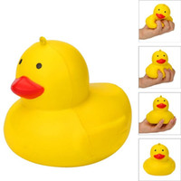 Wholesale silicone duck - Yellow Duck Squishy Slow Rising Phone Straps Charm Pendant Cartoon Cute Jumbo Simulation Animal Squishies Decompression Toys 8 3ca C