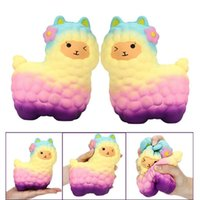 Wholesale Kids Collections - Squishy Hot Alpaca 18cm Slow Rising Original Packaging Collection Gift Decor Toy Phone Straps Decompress Toy