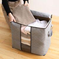 bolsas de almacenamiento de tela zip al por mayor-Venta al por mayor de almacenamiento en casa Bolsa plegable Nueva ropa de cama de tela Oxford impermeable Almohadas Edredón Organizador Bolsa Bolsa Zip - M ~ XL