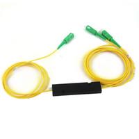Wholesale Fiber Apc - 5 Pcs FTTH 1X 2 SC APC FBT Fiber Optical Splitter SM Single Mode Free Shipping
