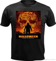 ingrosso zombie poster-Halloween A Rob Zombie Horror Movie Poster Design T Shirt da uomo regalo di compleanno
