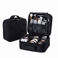 toiletry boxes оптовых-Women Professional Cosmetic Bag Large Waterproof Travel  Bag Trunk Zipper Make Up Organizer Storage Pouch Toiletry Kit Box