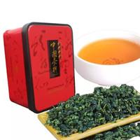 Wholesale whites tea box online - C WL039 oolong tea box China anxi tieguanyin tie guan yin luzhou flavor tieguanyin tea premium with blue and white porcelain gift