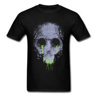 büyük resim baskısı toptan satış-Büyük Satış Serin Tshirt Yetişkin Giyim Giyim Gömlek Toksik Culverts Kafatası Görüntü Ekip Boyun T Gömlek Genç Adam Teeshirt 3D Baskı