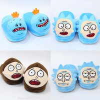 Wholesale Mr Shoes - 5 Styles 28cm Rick and Morty Mr. Meeseeks Morty Smith Rick Sanchez Plush Slippers Winter Indoor Shoes Soft Stuffed Toys CCA8421 30pair