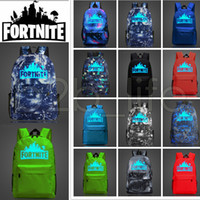 Wholesale 12 Designs L Fortnite Battle Royale School Bag Noctilucous Backpack Student Shoulder Bag Luminous Backpacks Outdoor Bags AAA613