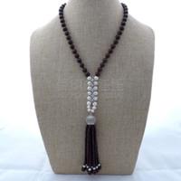 granat perlenketten großhandel-N122702 20
