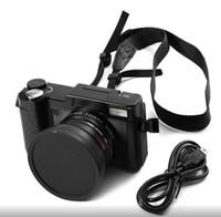 digitalkamera w großhandel-24MP HD Halb-DSLR Professionelle Digitalkamera w / 4x Tele, Fisheye Weitwinkel Objektiv Kamera Makro HD Videokamera