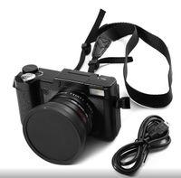 telefoto dijital kameralar toptan satış-24MP HD Yarım-DSLR Profesyonel Dijital Kamera w / 4x Telefoto, Balıkgözü Geniş Açı Lens Kamera Makro HD Video kamera