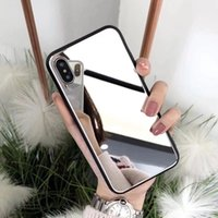 silver tempered glass iphone Canada - Newest Lady style for iphone 8 case mirror makeup cover tempered glass case for Goophone x desinger phone case