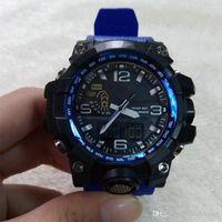 jungen armbanduhr geführt großhandel-New Shock Watch GWG Herren Sportuhren Anlog LED Outdoor Waterpoof Armbanduhr Militäruhr gutes Geschenk für Männer Junge 1000
