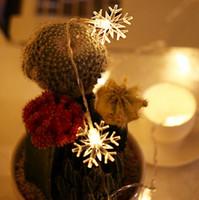 ingrosso le luci delle fate del giardino-Snowflake String Lights 5M 40LED Christmas LED Fairy String Light per Garden Wedding Party Luci dell'albero di Natale
