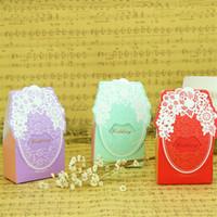 упаковочные коробки оптовых-Праздничные атрибуты конфеты коробка Свадьба День рождения Душа ребенка пользу упаковка подарочные коробки шоколад подарок Wrap Multi Color 0 21lt jj