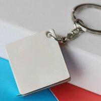 Wholesale tape keychain resale online - Practical Creative Tape Measure Keychain Metal Alloy Ruler Key Chain Ring Multifunctional Car Handbag Keyring Portable Tool