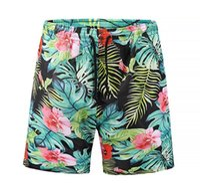 ingrosso modello di pantaloni di spiaggia-New Male Beach Shorts Estate Casual Dry Quick Short Pants Swimwear 24 Cartoon 3D modelli stampati