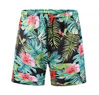 Wholesale swimwear men online - New Male Beach Shorts Summer Casual Dry Quick Short Pants Swimwear Cartoon D Printed Patterns