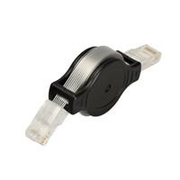 интернет черный оптовых-Оптовая продажа-портативный выдвижной RJ45 Ethernet LAN интернет сетевой кабель черный 88