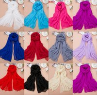 Wholesale Bridesmaids Shawls Wraps - 11 Color Summer Chiffon Bride Shawl Wraps Women Fashion Boho Party Supplies Sexy Sheer Elegant Wedding Bride Bridesmaid Shawl CPA1292