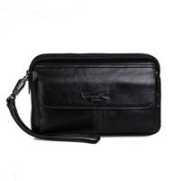 mann luxus telefon großhandel-Vintage Mode Business Clutch Handgelenk Tasche Luxus Handtasche Brieftasche Pouch Handytasche