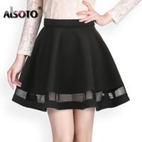 Wholesale korea women clothes - Fashion Grid Design women skirt elastic faldas ladies midi skirt Sexy Girls mini Pleated skirts saias Korea clothes