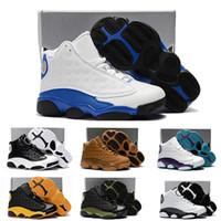 sneakers meninas on-line venda por atacado-Nike air jordan 13 retro Online 13 Crianças Sapatos de Basquete Crianças 13 s Alta Qualidade Calçados Esportivos Juventude Menina Da Menina de Basquete Tênis Venda US11C-3Y EU28-35