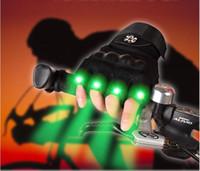 handschuh finger lichter großhandel-Nachtfischen-Handschuh-LED-Licht-Rettungs-Werkzeug-Gang-Hauptreparaturhandschuhe-halbe Finger-Taschenlampen-Fahrrad, das Licht für Weihnachtsfeier