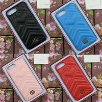 Wholesale texture phone - for iphone X case Luxury brand leather texture Velvet love phone case for iphone 7 7plus 8 8plus hard back cover for iphone 6 6S 6plus