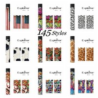 Wholesale battery case cover - 145 Designs ! DHL Free! Skins Wraps Sticker Cases Cover for Battery Kit E cig Vape Pen Mod Protective Film Hot Stickers