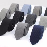 taobao modelleri toptan satış-Ticari Lüks 100% Yün Kravat Klasik Renk Siyah Gri Kravat Erkek Moda Kravatlar Tasarımcı El Yapımı Avrupa Tarzı Bağları