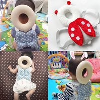 Wholesale Head Harness Ring - Brand New Cute Baby Infant Toddler Newborn Head Back Protector Safety Pad Harness Headgear Cartoon Baby Head Protection Pad
