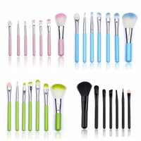 Wholesale Goat Hair Dhl - New Hot makeup brushes makeup brush 7pcs Professional mini Brush sets DHL Fshipping+Gift