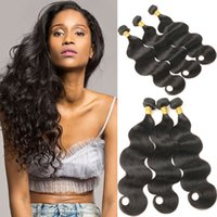 Wholesale 22inch human hair weft online - Malaysian Body Wave Hair Bundles Human Hair Extensions inch Remy Hair Weaving Natural Color
