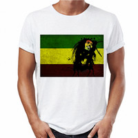 Wholesale t shirt bob marley - 2018 New Arrivals Bob Marley Legend Ringer T-shirt Men Jamaica Daft Punk White T Shirt Designer Mens Graphic Tees Streetwear Top