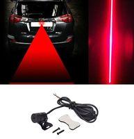 araç ışık ledli lamba 12v toptan satış-2018 Araba Oto Araç LED Lazer Sis Işık Anti-Çarpışma Arka Lambası Fren Uyarı Lambası DHL Ücretsiz Kargo