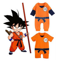 Wholesale goku clothes online - New Baby Romper Goku Dragon Ball Z Cartoon Infant Toddlers Jumpsuit Cosplay cartoon r baby clothes year