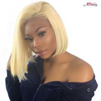 königin reine haarspitzeperücken groihandel-Gaga Queen 613 Blonde Lace Front Perücke mit Babyhaar Brasilianische Reine Gerade Menschenhaar Bundle Full End Short Bob Perücken