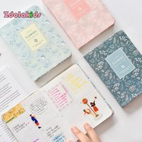 Wholesale Sweet Notebook - New Cute Sweet Notebook PU Leather Floral Schedule Book Diary Weekly Planner Gift Stationery