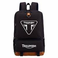 motosiklet seyahat sırt çantası toptan satış-WISHOT triumph motosiklet sırt çantası Erkek kadın erkek Öğrenci Okul Çantaları seyahat Omuz Çantası Laptop Çantaları bookbag rahat çanta
