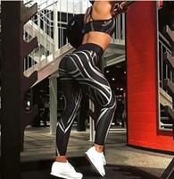 frauen sexy yoga hosengamaschen groihandel-2018 Neue Sexy Damen Damen Schwarz Gym Yoga Lauf Fitness Leggings Sport Aktive Hosen Sporthose Größe S-XL
