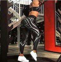 mulheres sensuais calças de yoga leggings venda por atacado-2018 New Sexy Das Senhoras Das Mulheres Negras Gym Yoga Correndo Aptidão Leggings Esportes Calças Ativo Calças Atlético Tamanho S-XL