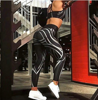 ingrosso delle donne sexy leggings pantaloni di yoga-2018 Nuove donne sexy Ladies Black Gym Yoga Fitness in esecuzione Leggings Sport Active Pants Pantaloni atletici Taglia S-XL
