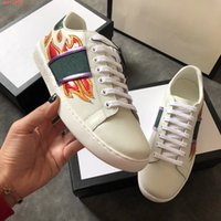 Wholesale real flame - Pair shoe new, high-end luxury brand leisure shoe flame print design real leather cowhide style comfortable men's and women's shoes.